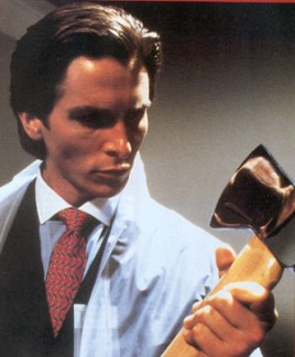 Christian Bale as Patrick Bateman
