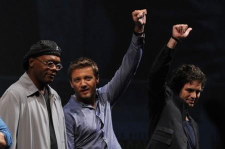Jackson, Renner and Ruffalo at Comic-Con 2010