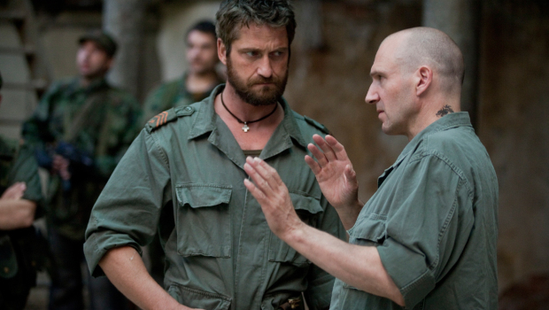 Gerard Butler and Ralph Fiennes in Coriolanus