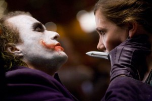 Heath Ledger and Maggie Gyllenhaal in The Dark Knight