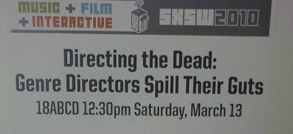 Directing the Dead SXSW