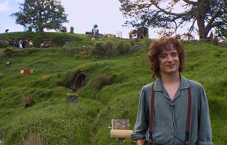 Elijah Wood filming The Hobbit