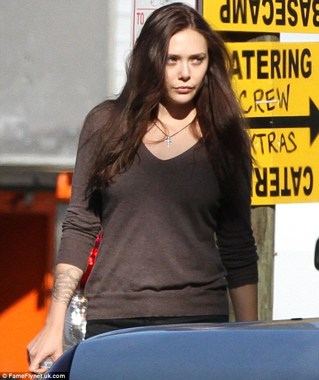 Elizabeth Olsen on the set of 'Oldboy'