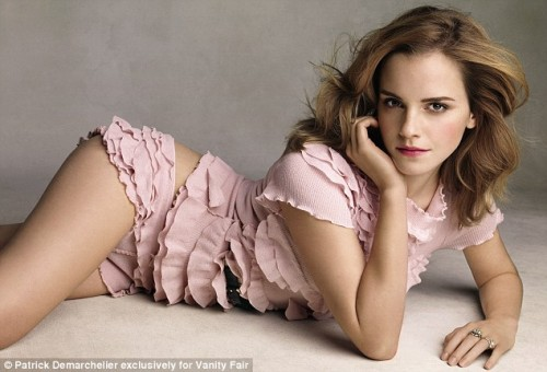 Emma Watson poses for Vanity Fair