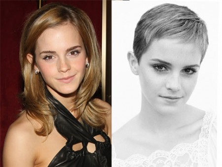 Emma Watson before and after haircut