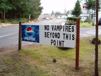 Forks vampires sign