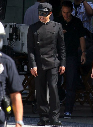 Jay Chou on set of The Green Hornet