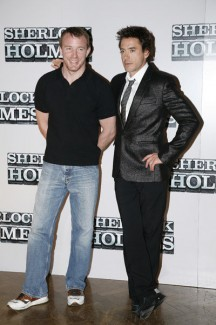 Guy Ritchie and Robert Downey Jr.