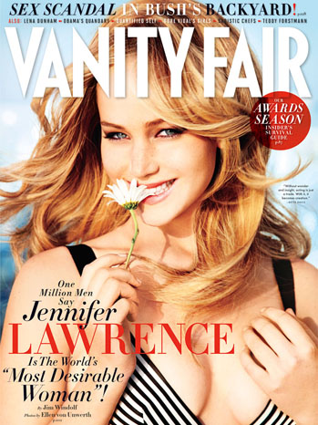 Jennifer Lawrence on the cover of 'Vanity Fair'