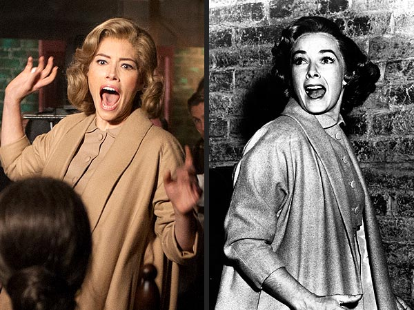Jessica Biel as Vera Miles and the real Vera Miles to the right
