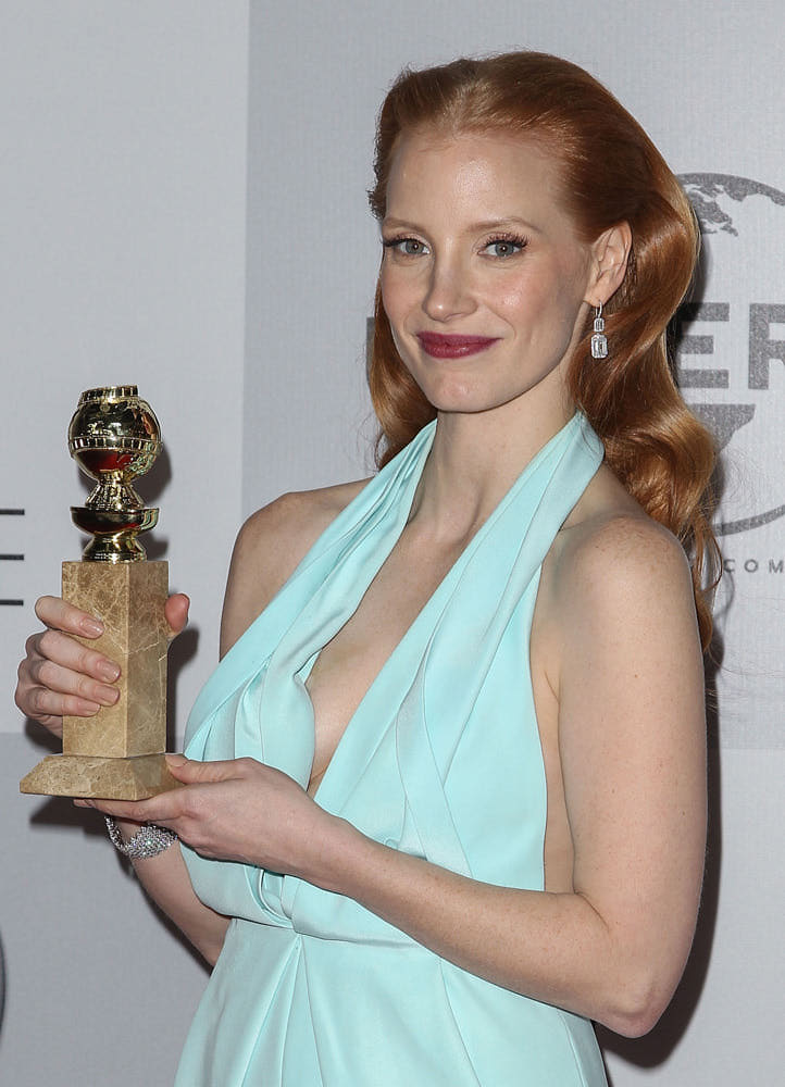 Jessica Chastain at this year's Golden Globe Awards