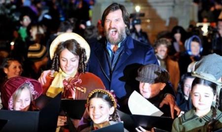 Jim Carrey at London's Christmas Carol premiere