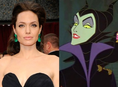 Angelina Jolie and Maleficent