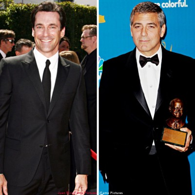 Jon Hamm and George Clooney