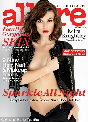 Keira Knightley on the cover of 'Allure'