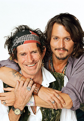 Keith Richards with Johnny Depp