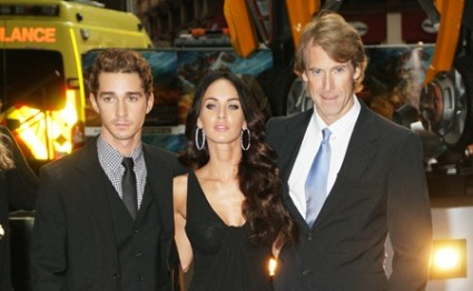 Shia LaBeouf, Megan Fox and Michael Bay