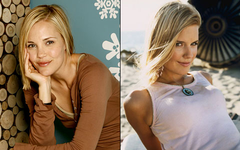 Separated at birth? Leslie Bibb and Maggie Grace