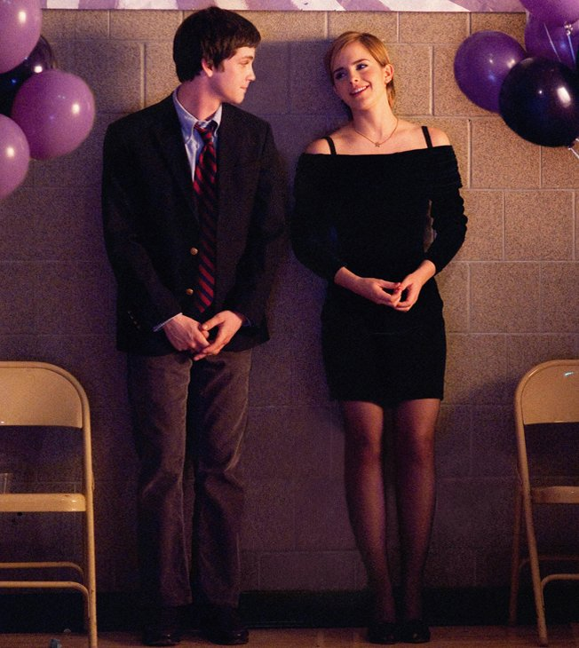 Logan Lerman and Emma Watson