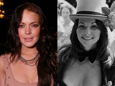 Lindsay Lohan and Linda Lovelace