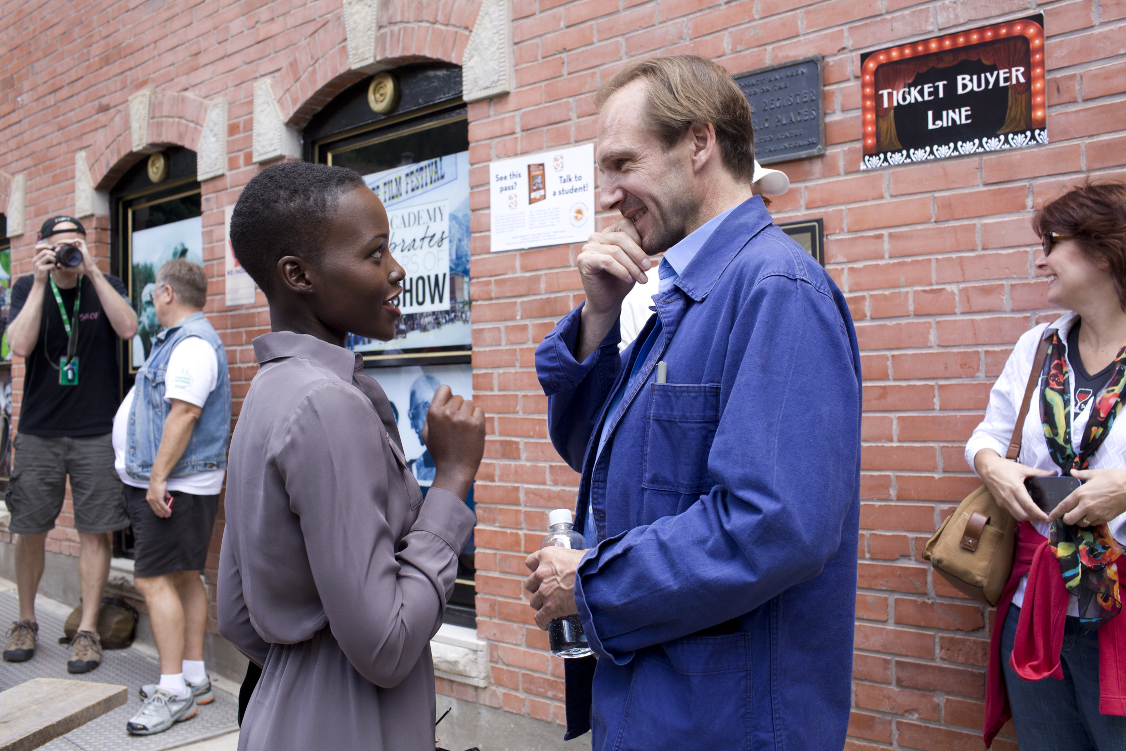 Lupita Nyong'o and Ralph Fiennes