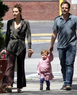Maggie Gyllenhaal with daughter and husband