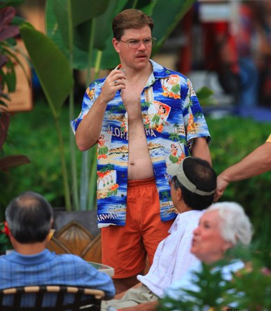 Matt Damon in Hawaiian shirt