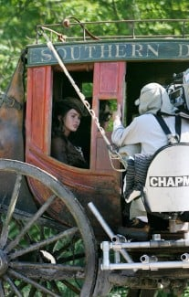 Megan Fox on Jonah Hex set