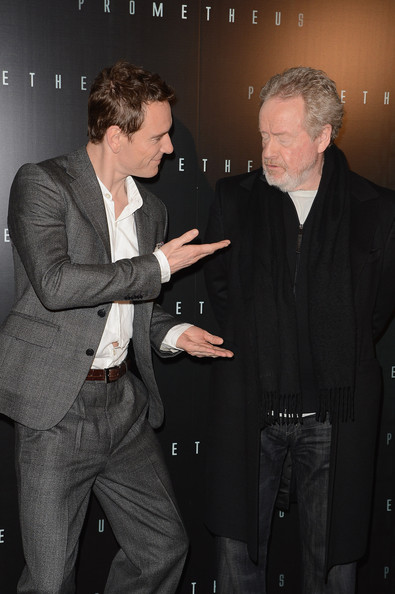 Michael Fassbender and Ridley Scott