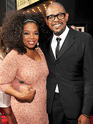 Oprah Winfrey and her 'The Butler' co-star Forest Whitaker