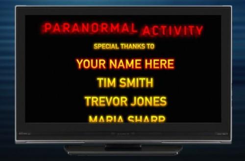 Paranormal Activity website