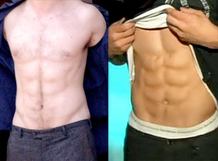 Robert Pattinson's and Taylor Lautner's abs