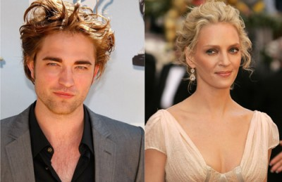 Robert Pattinson and Uma Thurman