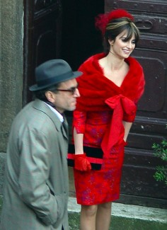 Penelope Cruz on the set of Nine