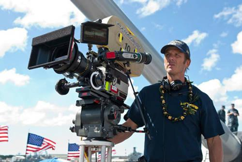 Peter Berg on the set of 'Battleship'