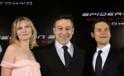 Kirsten Dunst, Sam Raimi and Tobey Maguire