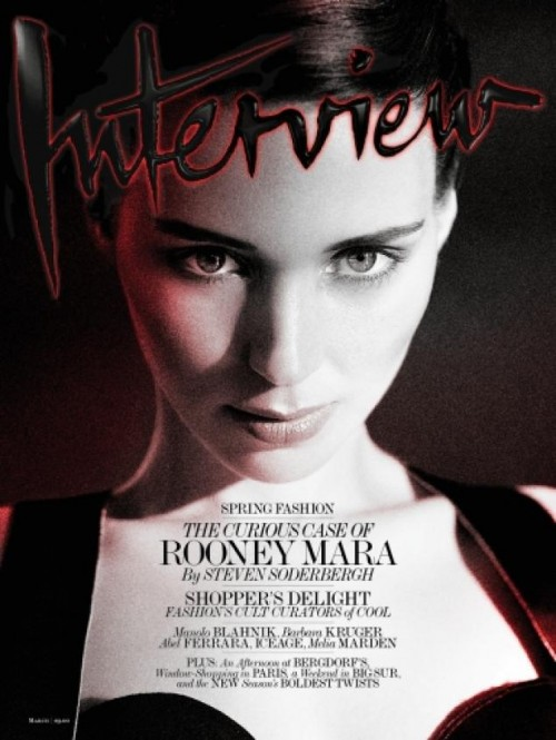 Rooney Mara on the cover of 'Interview'
