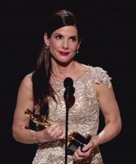 Sandra Bullock winning her Oscar