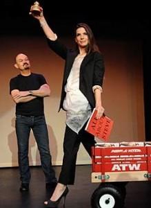 Sandra Bullock winning Razzie