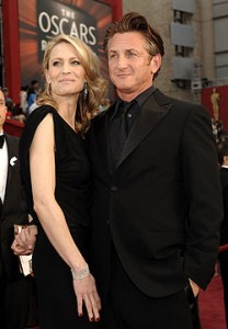 Sean and Robin Penn at the Oscars back in February