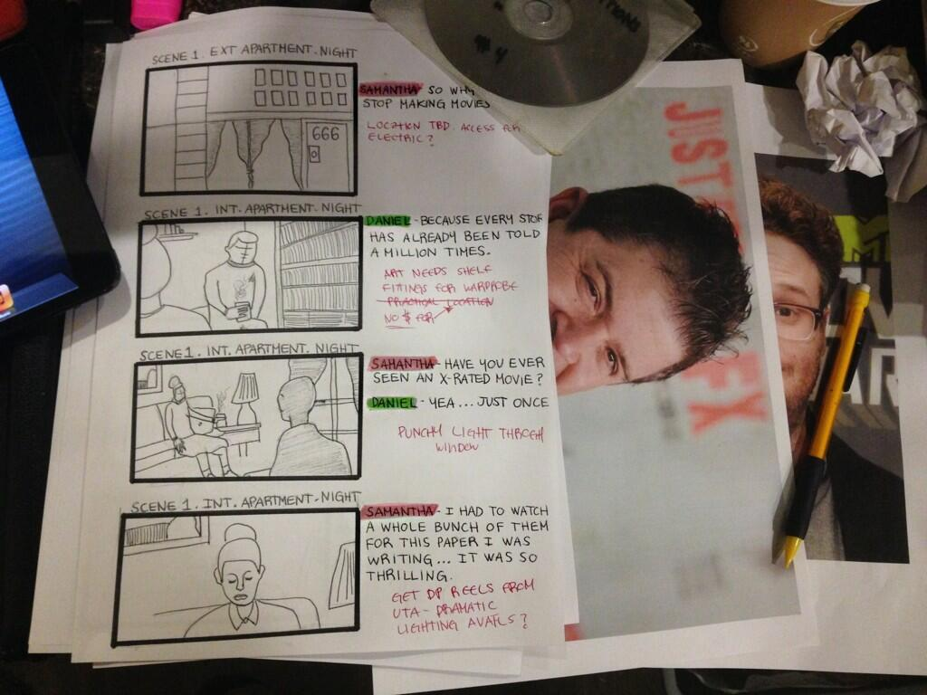 Shia LaBeouf's supposed storyboard for an upcoming project