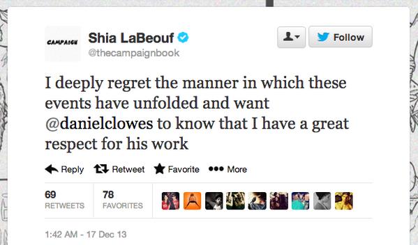 Shia LaBeouf's Twitter