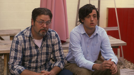 Nick Offerman and Keith Poulson in 'Somebody Up There Likes Me'