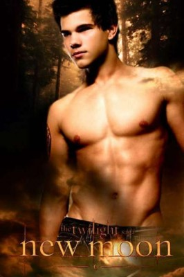 Taylor Lautner, shirtless in the New Moon poster