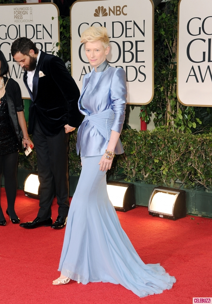 Tilda Swinton at this year's Golden Globes