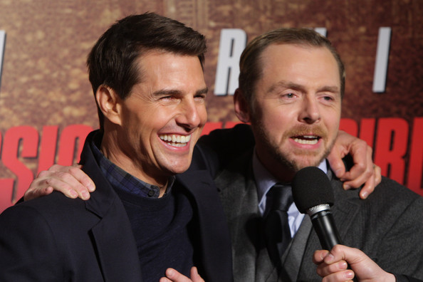 Tom Cruise and Simon Pegg