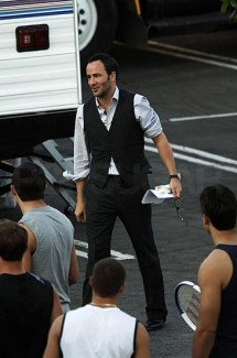 Tom Ford on the set of A Single Man