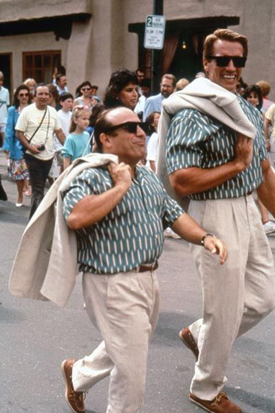 Danny DeVito and Arnold Schwarzenegger in the original Twins