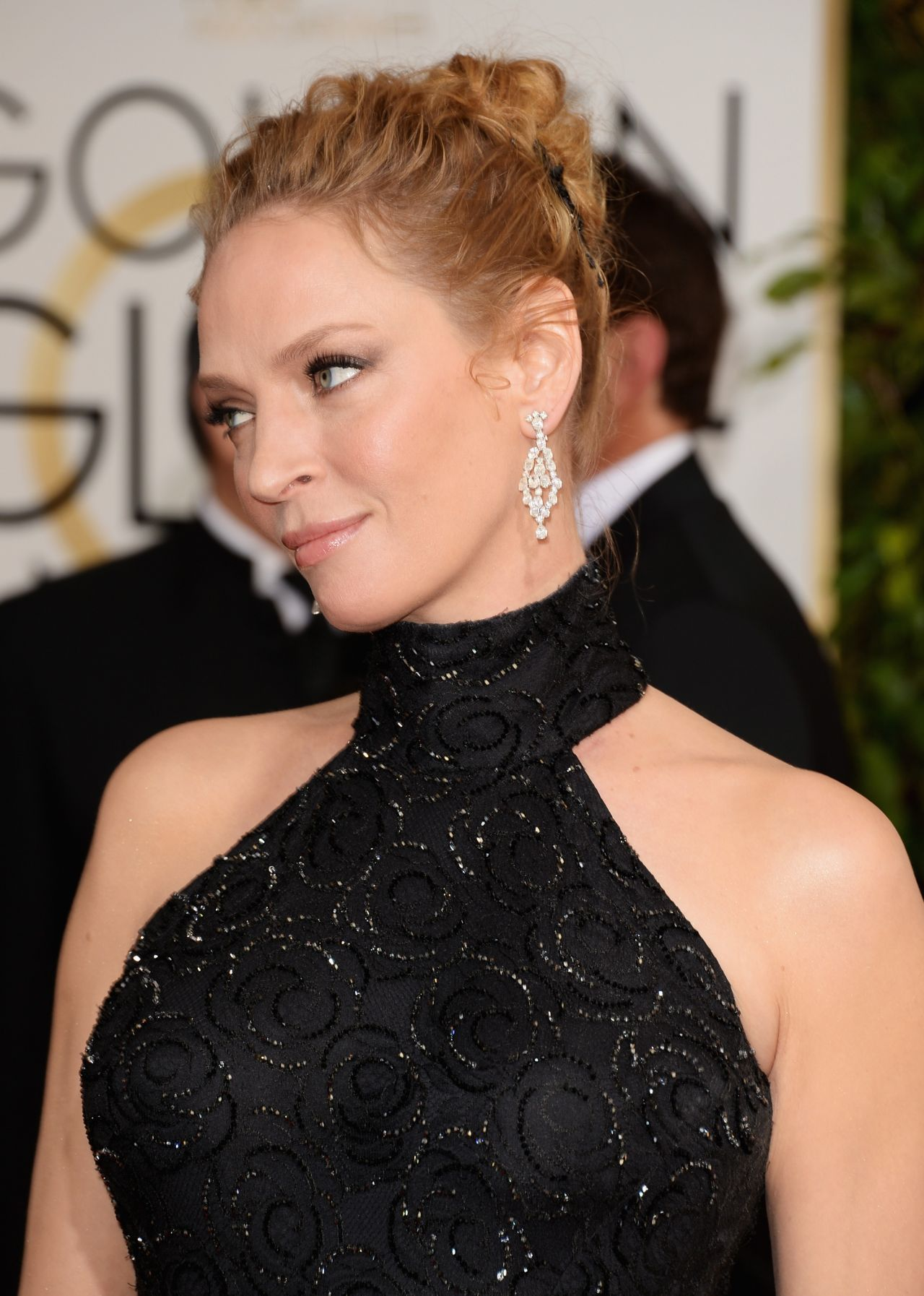Uma Thurman at this year's Golden Globe Awards