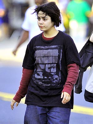 Vanessa Hudgens on the set of 'Gimme Shelter'